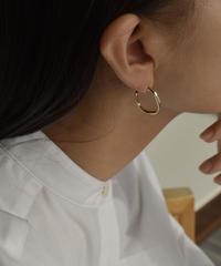 pierce2-02415 NUANCE ROUND HOOP EARRINGS