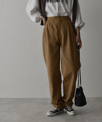 bottoms-02077  TUCK SEMI WIDE STRAIGHT PANTS