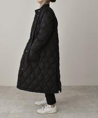 outer-02035 QUILTED LONG DOWN COAT WITH BORE LINER VEST