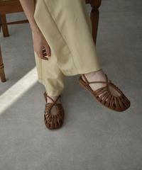 shoes-02126 ECO LEATHER CROSS DESIGN SANDALS