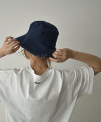 cap-02040 CANVAS FRINGE BUCKET HAT