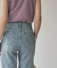 bottoms-02066  HIGH WAIST STRAIGHT DENIM