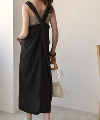 onepiece-02009 BACK TWIST DRESS
