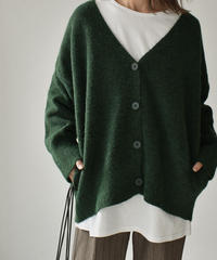 knit-02094 V-NECK WOOL BLEND KNIT CARDIGAN