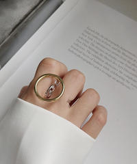 ring2-02025 STERLING SILVER 925 TWO FINGER RING