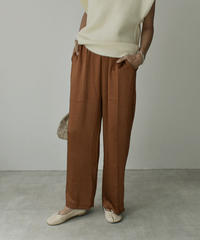 bottoms-02080  VINTAGE SATIN WIDE PANTS