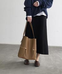 bag2-02423 ZIPPER DESIGN SHOULDER BAG WITH POUCH