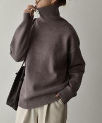 knit-02110  HIGH GAUGE TURTLENECK KNIT PULLOVER