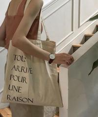 bag2-02279 TOUT ARRIVE POUR UNE RAISON TOTE BAG