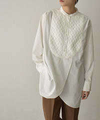 tops-04109 MADE IN JAPAN QUILTING BIB WITH COLLAR DRESS S