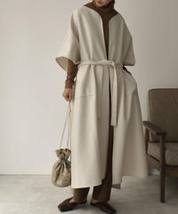 outer-04012 MADE IN JAPAN MELTON LONG GOWN COAT