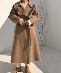 coat-02004 LONG WOOL GOWN COAT  RIVER TAILORING