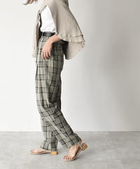 bottoms-02060 SEMI-WIDE TACK TAPERED PANTS