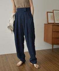 bottoms-02108 HIGH WAIST PLEATED TAPERED PANTS