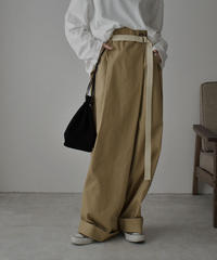 bottoms- 07002 WRAP WIDE CHINO PANTS WITH BELT