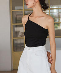 tops-02096 ASYMMETRIC ONE SHOULDER CAMISOLE