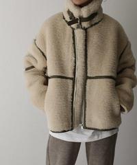 coat-02019 WOOL 50 ECO MOUTON PIPING BOA BLOUSON