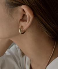 pierce2-02425 GOLD HOOP EARRINGS