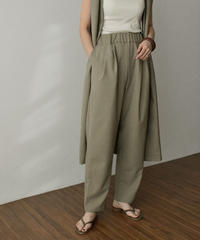 bottoms-04044 MADE IN JAPAN LINEN-LIKE ANTI-WRINKLE CONTACT COOL FEELING TUCK TAPERED PANTS