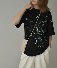tops-02236 COLOR  DRIPPING  T-SHIRT