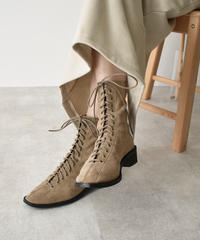 shoes-02090 ECO SUEDE LACE UP BOOTS