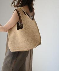 bag2-02497 RAFFIA BASKET BAG