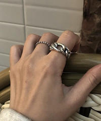 ring2-02021 STERLING SILVER 925 ROPE & CHAIN RING
