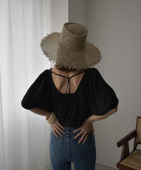 tops-02181  SQUARE NECK PUFF SLEEVE BLOUSE