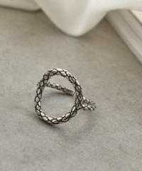 ring2-02054 STERLING SILVER 925  PLAID O-RING