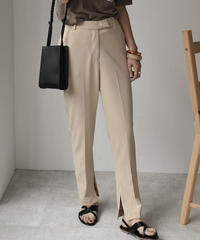 bottoms-02030 SIDE SLIT STRETCH  TROUSER PANTS