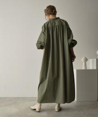onepiece-04043 MADE IN JAPAN VOLUME SLEEVE KAFTAN DRESS