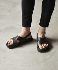 shoes-02072 BACK BELT CROSS SANDALS