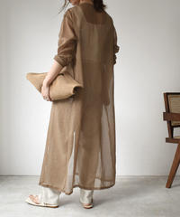 onepiece-04018 MADE IN JAPAN LONG SHEER GOWN GRAY MOCHA BEIGE