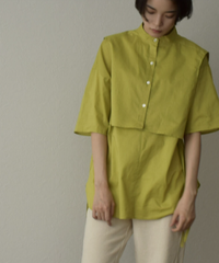tops-04087 MADE IN JAPAN LAYERED TWIN SHIRT