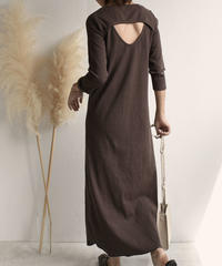onepiece-04011 MADE IN JAPAN RIB LONG DRESS