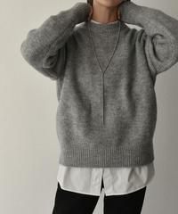 knit-02104  CREW NECK HIGH GAUGE KNIT PULLOVER