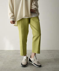 bottoms-02096 KNIT PIN TUCK TAPERED PANTS