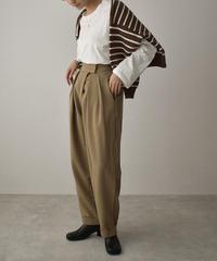 bottoms-02130 HIGH WAIST TUCK PANTS