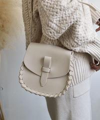 bag2-02445 STITCH FLAP SHOULDER BAG