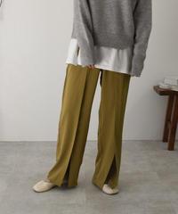 bottoms-02049 CENTER SLIT PANTS
