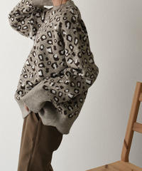 knit-02051 LEOPARD PATTERN  KNIT