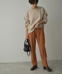 bottoms-04047 MADE IN JAPAN PONTE FABRIC TAPERED EASY PANTS