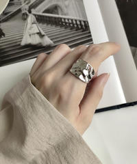 ring2-02096 STERLING SILVER 925 EMBOSSED DESIGN VOLUME RING