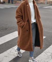 coat-02014 OVERSIZE  BOA LONG COAT
