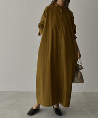 onepiece-04035  BAND COLOR LONG SHIRT DRESS