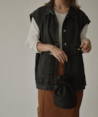 jacket-02001  BLACK DENIM BIG VEST