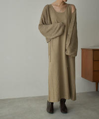 onepiece-09001 KNIT SLEEVELES DRESS