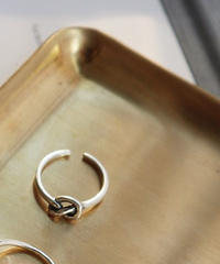 ring2-02067 STERLING SILVER 925  SINGLE KNOT RING