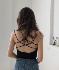 tops-02045 BACK CROSS BRA TOP CAMISOLE