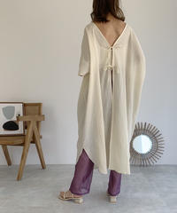 onepiece-04023 MADE IN JAPAN BACK RIBBON KAFTAN DRESS
